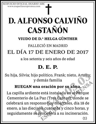 Alfonso Calviño Castañón